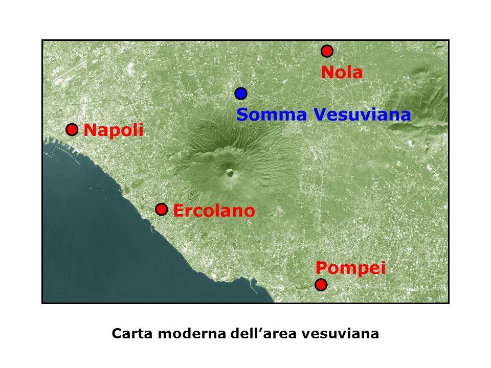 Carta moderna dell'area vesuviana
