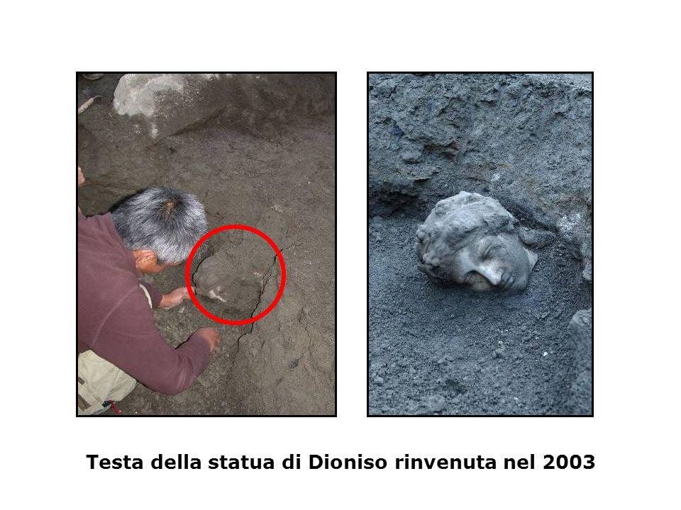 Testa della statua di Dioniso rinvenuta nel 2003