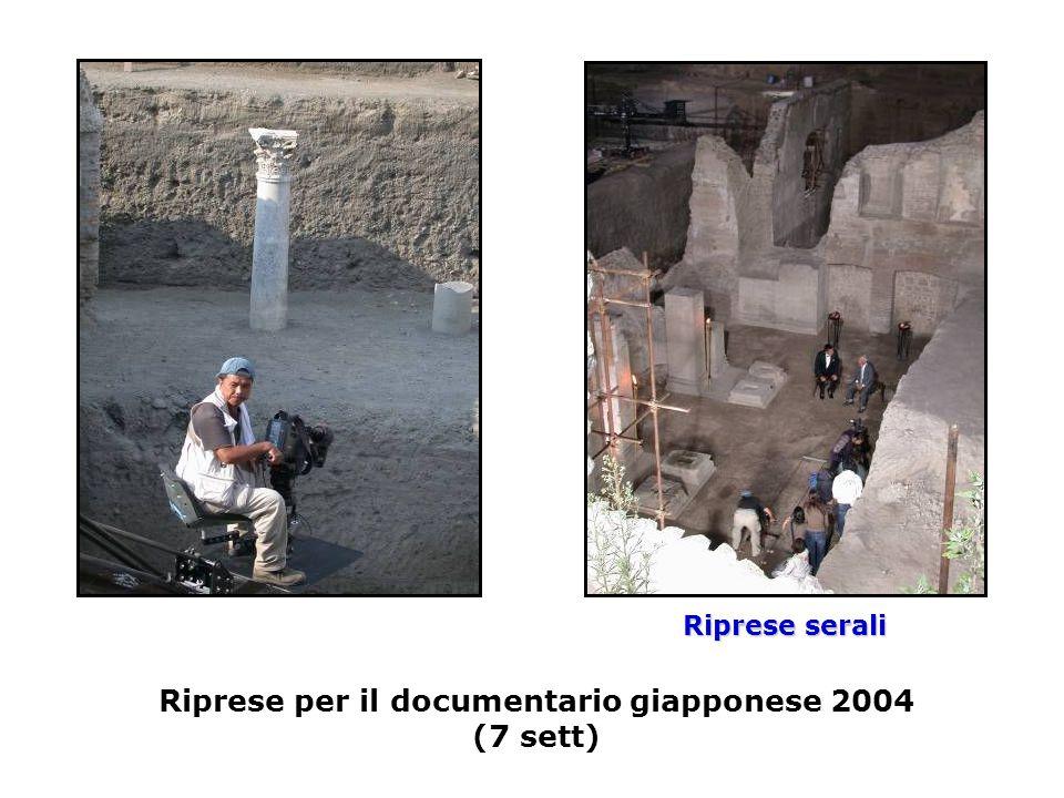 Riprese per il documentario giapponese 2004 (7 sett) Riprese serali