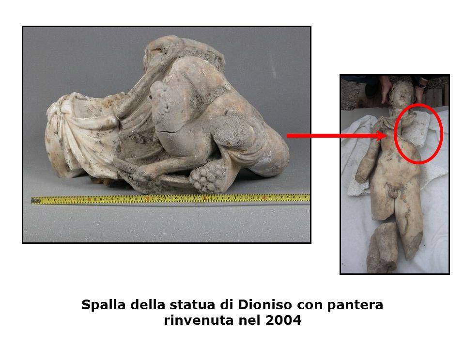 Spalla della statua di Dioniso con pantera rinvenuta nel 2004