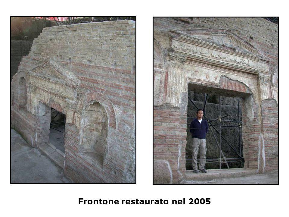 Frontone restaurato nel 2005