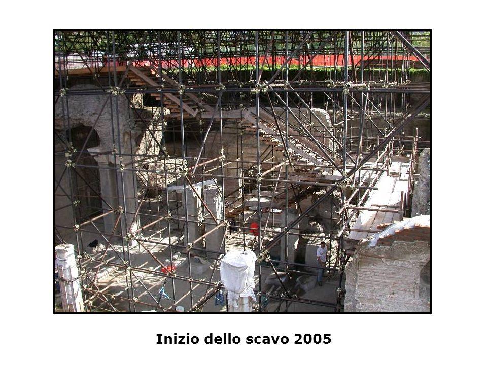 Inizio dello scavo 2005