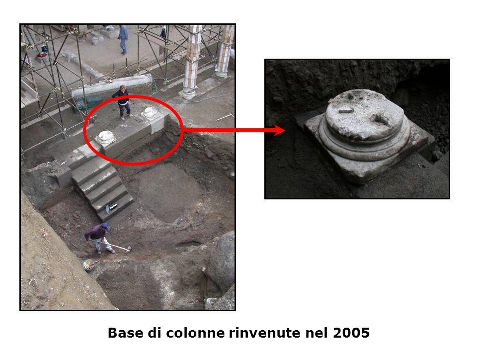 Base di colonne rinvenute nel 2005
