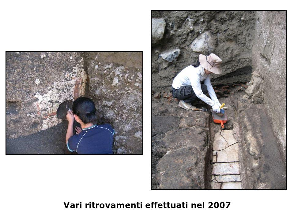Vari ritrovamenti effettuati nel 2007