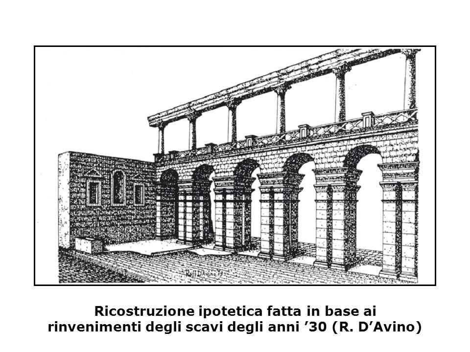 Ricostruzione ipotetica fatta in base ai rinvenimenti degli scavi degli anni '30 (R. D'Avino)