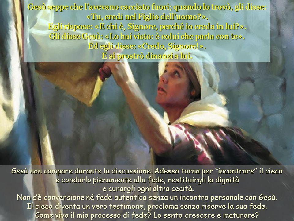 Quanti vogliono continuare ad essere discepoli della legge antica non ammettono la luce e la verità di Gesù né di nessun altro; stanno sulla difensiva