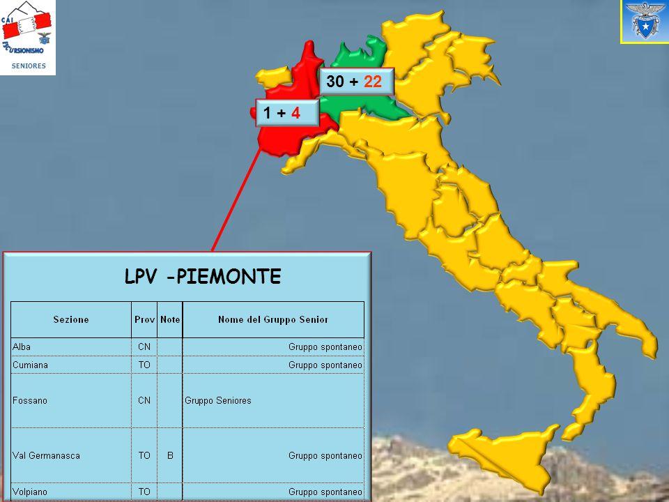 SENIORES LPV -PIEMONTE 1 + 41 + 4 30 + 22