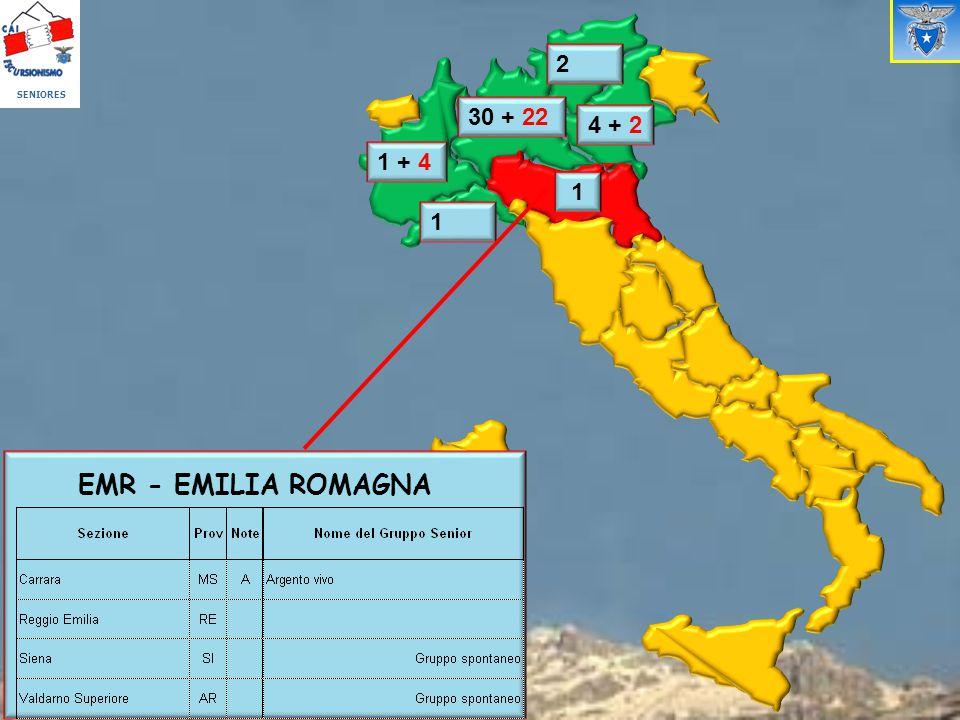 1 1 + 4 1 4 + 2 30 + 22 2 EMR - EMILIA ROMAGNA SENIORES