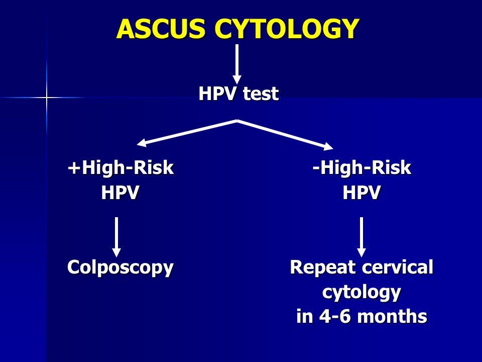 LINEE GUIDA DI CONSENSO DELL'ASCCP 1 Il reflex test per i tipi di HPV ad alto rischio è la strategia d'elezione per la gestione del Pap test anormale