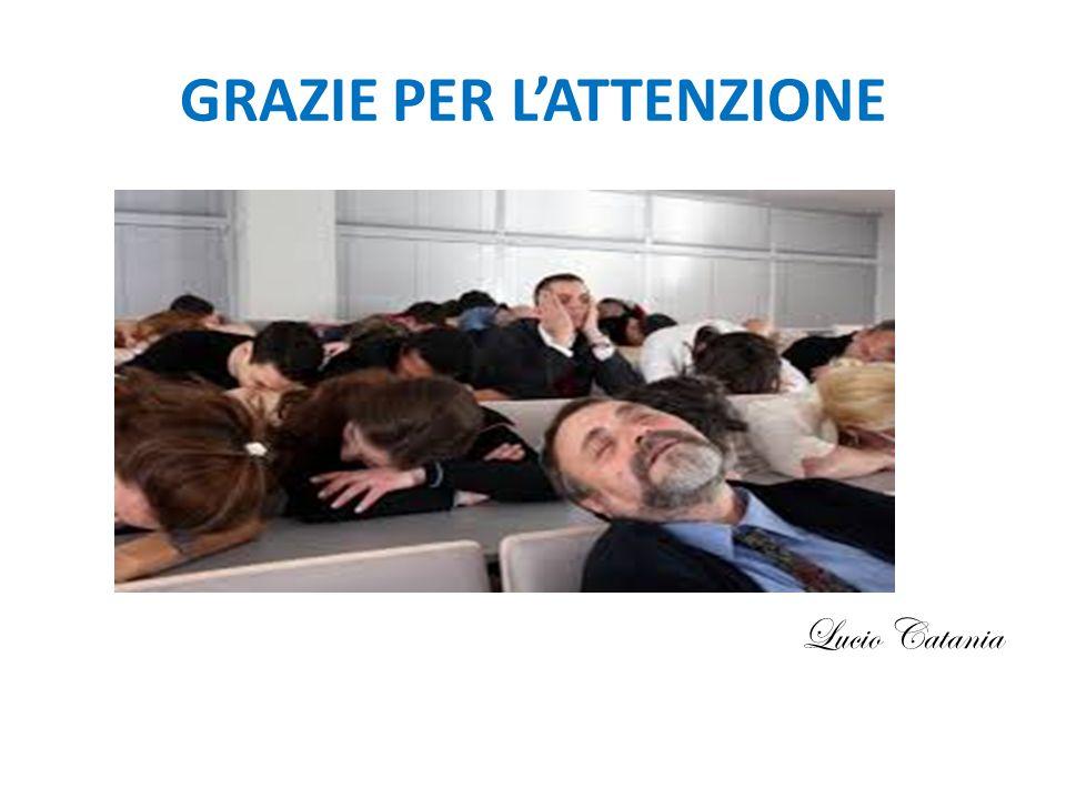 GRAZIE PER L'ATTENZIONE Lucio Catania