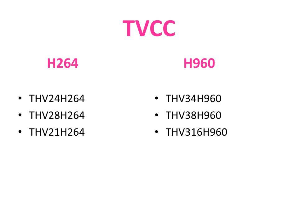 TVCC H264 THV24H264 THV28H264 THV21H264 H960 THV34H960 THV38H960 THV316H960