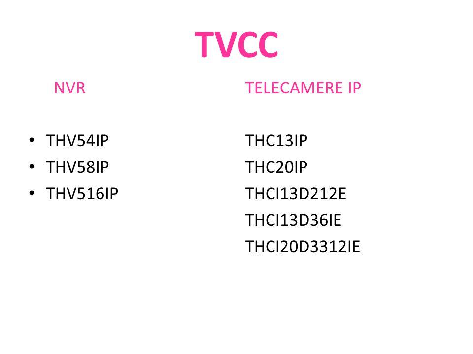 TVCC NVR THV54IP THV58IP THV516IP TELECAMERE IP THC13IP THC20IP THCI13D212E THCI13D36IE THCI20D3312IE