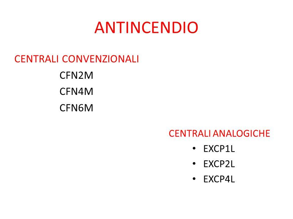 ANTINCENDIO CENTRALI CONVENZIONALI CFN2M CFN4M CFN6M CENTRALI ANALOGICHE EXCP1L EXCP2L EXCP4L