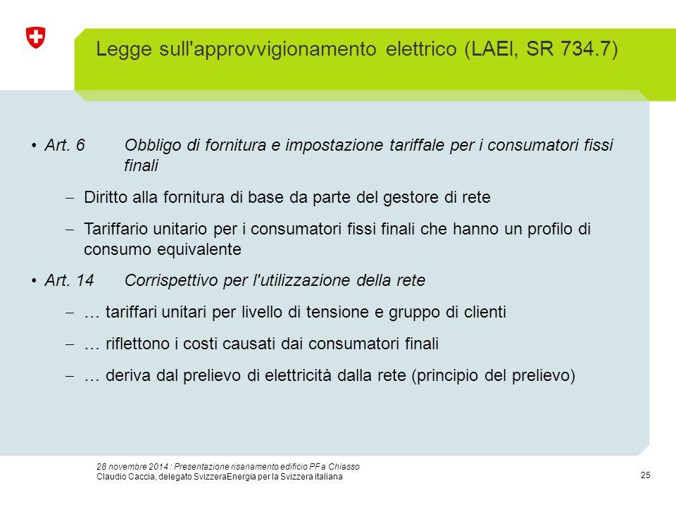 25 28 novembre 2014 : Presentazione risanamento edificio PF a Chiasso Claudio Caccia, delegato SvizzeraEnergia per la Svizzera italiana Legge sull'app