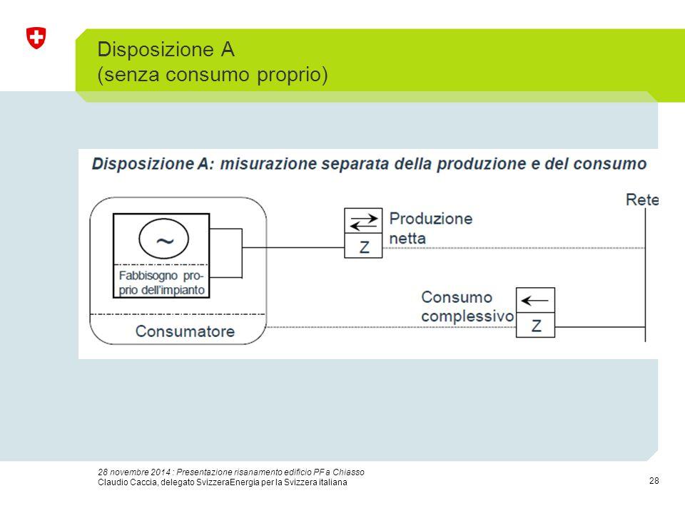 28 28 novembre 2014 : Presentazione risanamento edificio PF a Chiasso Claudio Caccia, delegato SvizzeraEnergia per la Svizzera italiana Disposizione A