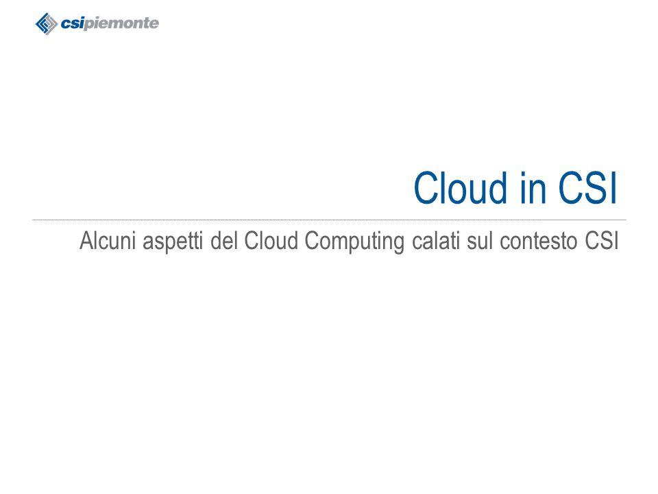 gg/mm/aaaa Titolo della presentazione 55 Cloud in CSI Alcuni aspetti del Cloud Computing calati sul contesto CSI