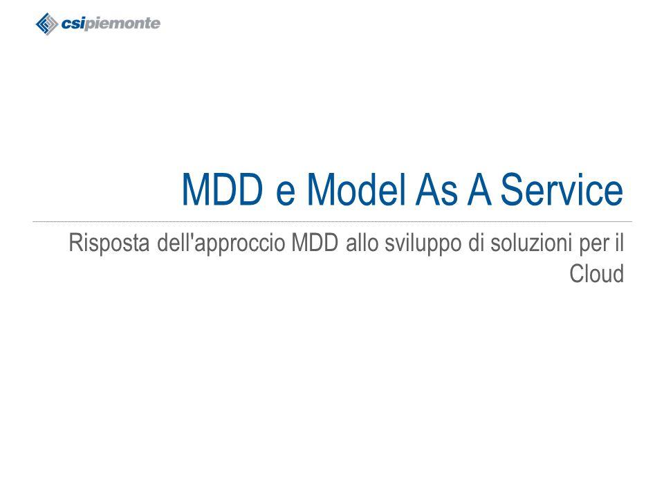 gg/mm/aaaa Titolo della presentazione 65 MDD e Model As A Service Risposta dell'approccio MDD allo sviluppo di soluzioni per il Cloud
