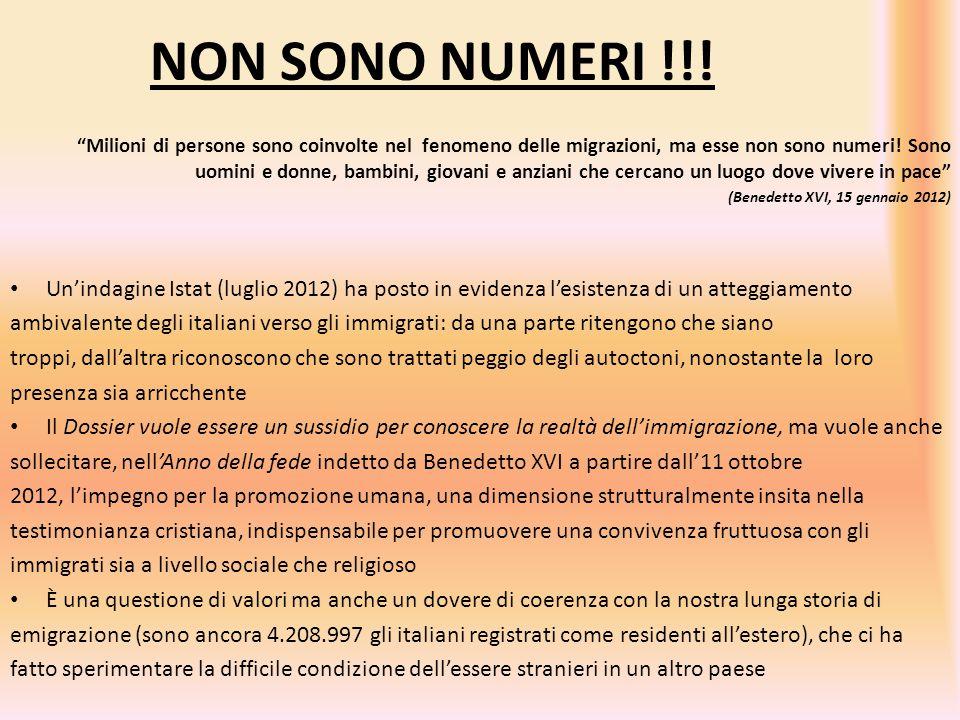 """NON SONO NUMERI !!! """"Milioni di persone sono coinvolte nel fenomeno delle migrazioni, ma esse non sono numeri! Sono uomini e donne, bambini, giovani e"""