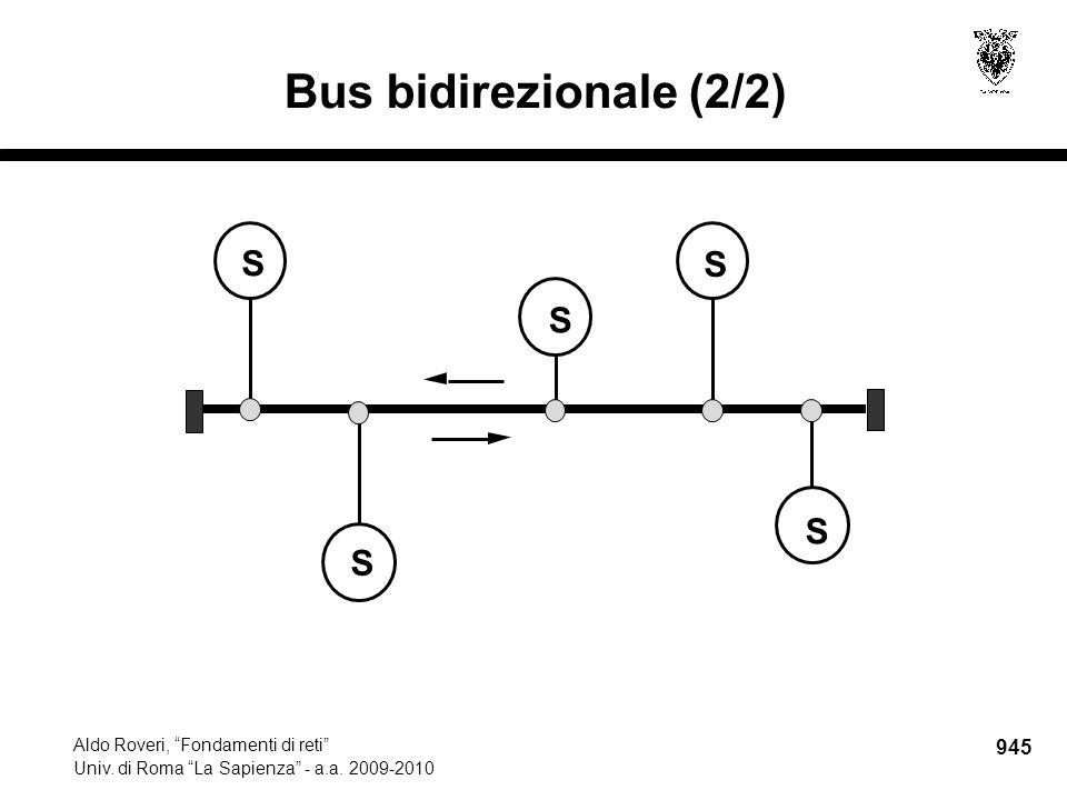 """945 Aldo Roveri, """"Fondamenti di reti"""" Univ. di Roma """"La Sapienza"""" - a.a. 2009-2010 Bus bidirezionale (2/2) S S S S S"""