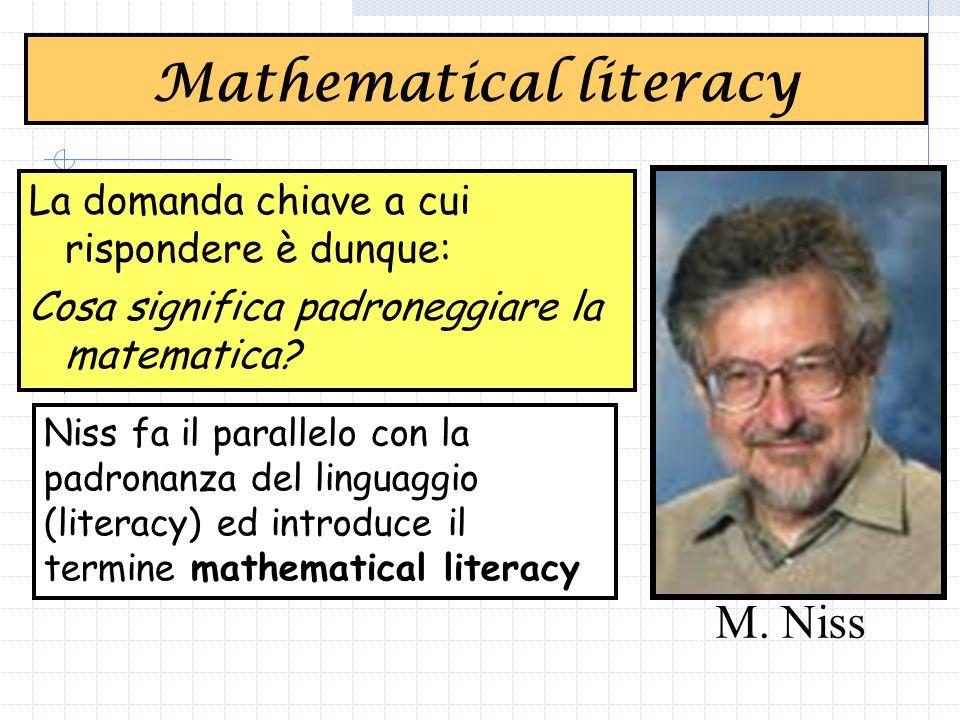 La domanda chiave a cui rispondere è dunque: Cosa significa padroneggiare la matematica.