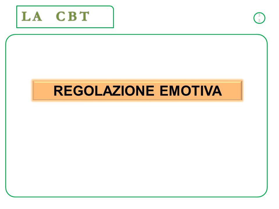 REGOLAZIONE EMOTIVA 33 LA CBT