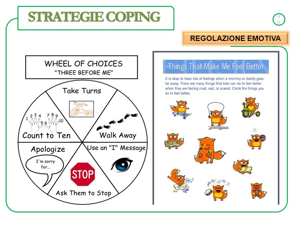 40 STRATEGIE COPING REGOLAZIONE EMOTIVA