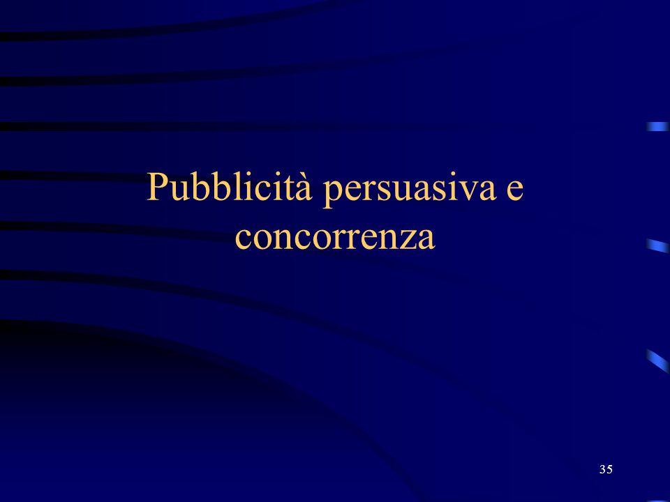 35 Pubblicità persuasiva e concorrenza