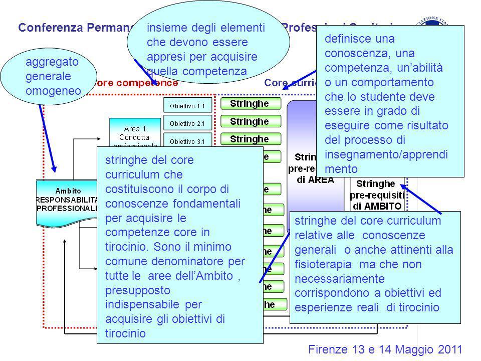 Conferenza Permanente Corsi di Laurea delle Professioni Sanitarie Firenze 13 e 14 Maggio 2011 aggregato generale omogeneo insieme degli elementi che d