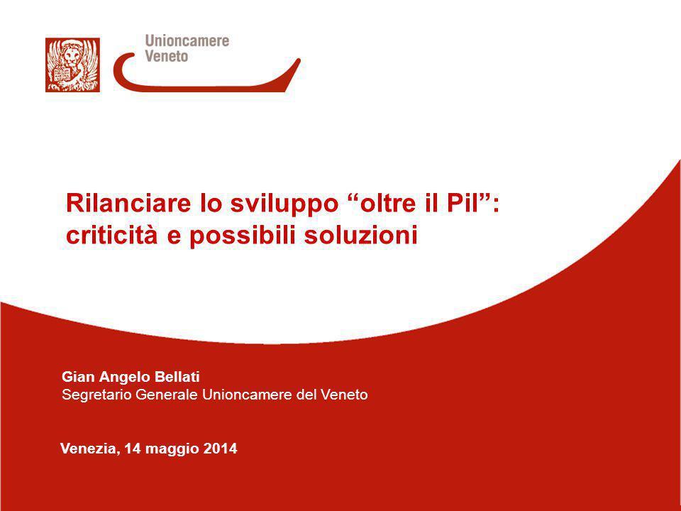 1/14 Venezia, 14 maggio 2014 Rilanciare lo sviluppo oltre il Pil : criticità e possibili soluzioni Gian Angelo Bellati Segretario Generale Unioncamere del Veneto