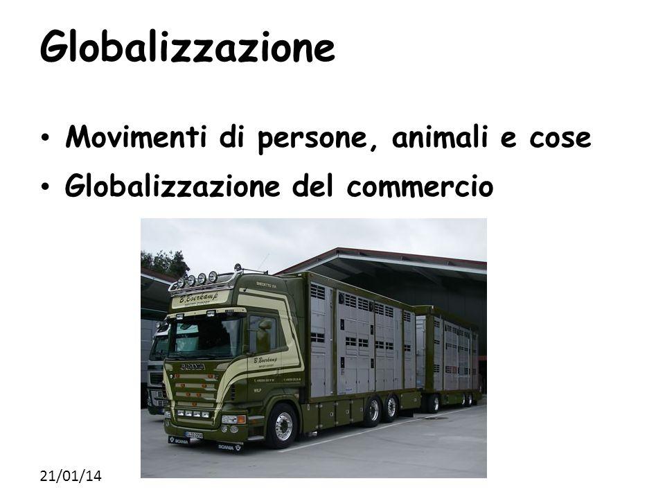 Globalizzazione Movimenti di persone, animali e cose Globalizzazione del commercio 21/01/14
