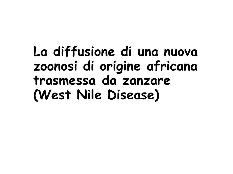 La diffusione di una nuova zoonosi di origine africana trasmessa da zanzare (West Nile Disease)