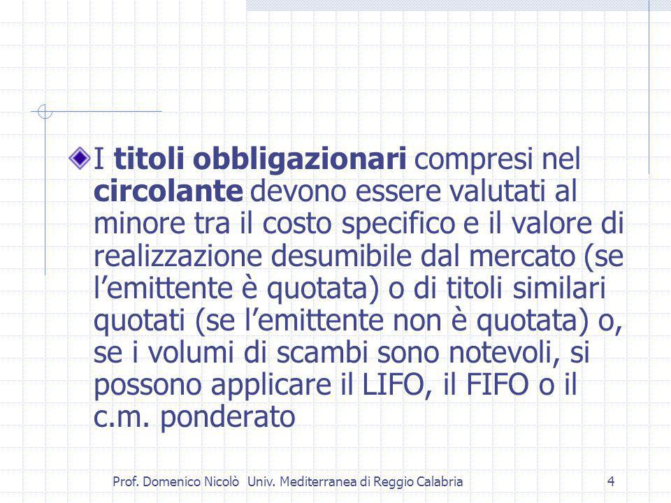 Prof. Domenico Nicolò Univ.