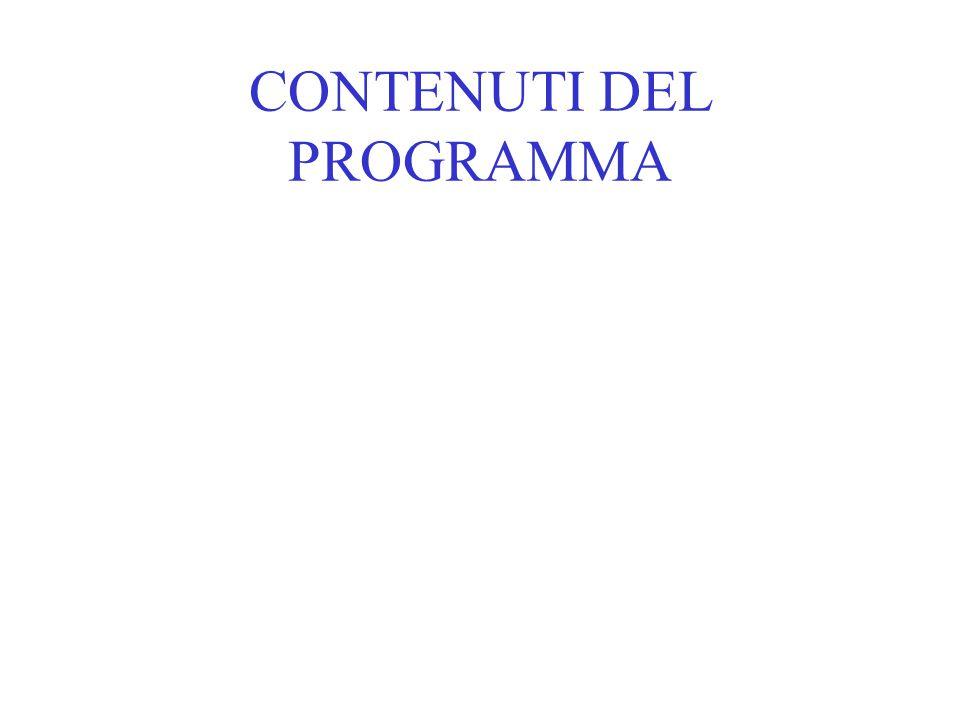 CONTENUTI DEL PROGRAMMA