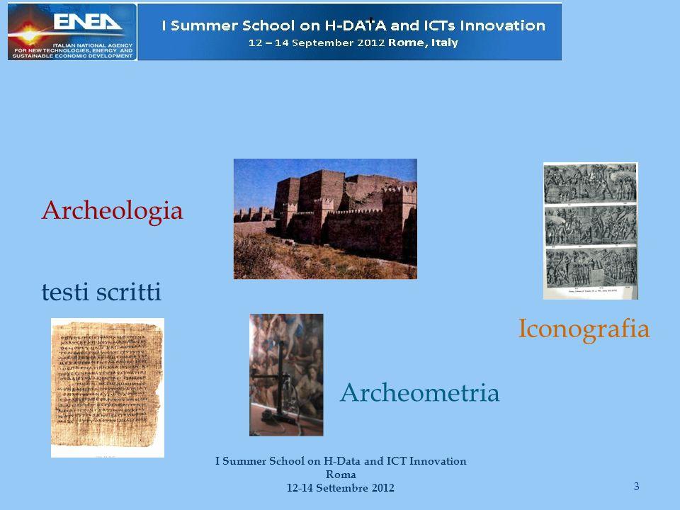 I testi indiretti Richiedono un discorso molto più articolato, che vedremo un'altra volta 34 I Summer School on H-Data and ICT Innovation Roma 12-14 Settembre 2012