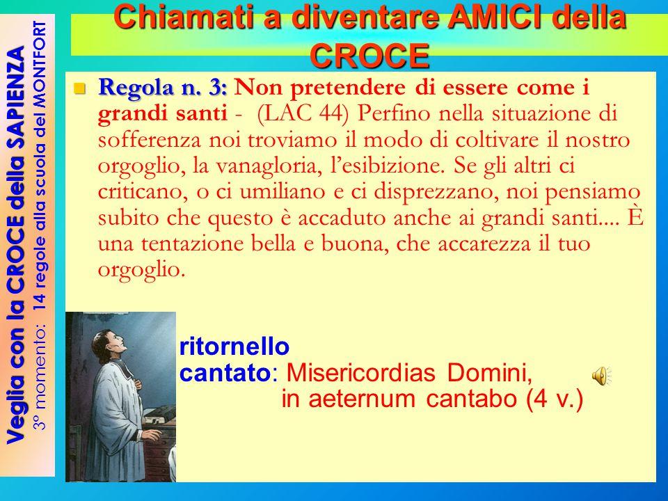 Regola n. 3: Regola n. 3: Non pretendere di essere come i grandi santi - (LAC 44) Perfino nella situazione di sofferenza noi troviamo il modo di colt
