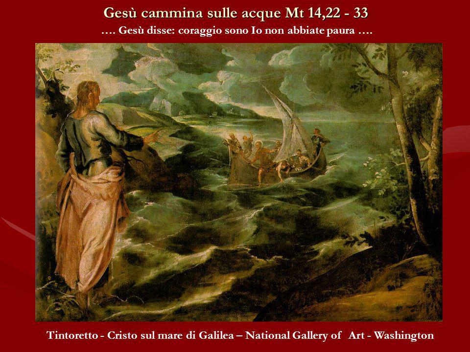 Gesù cammina sulle acque Mt 14,22 - 33 …. Gesù andò verso di loro camminando sul mare …. Amédée Varint – Christ marchant sur la mer