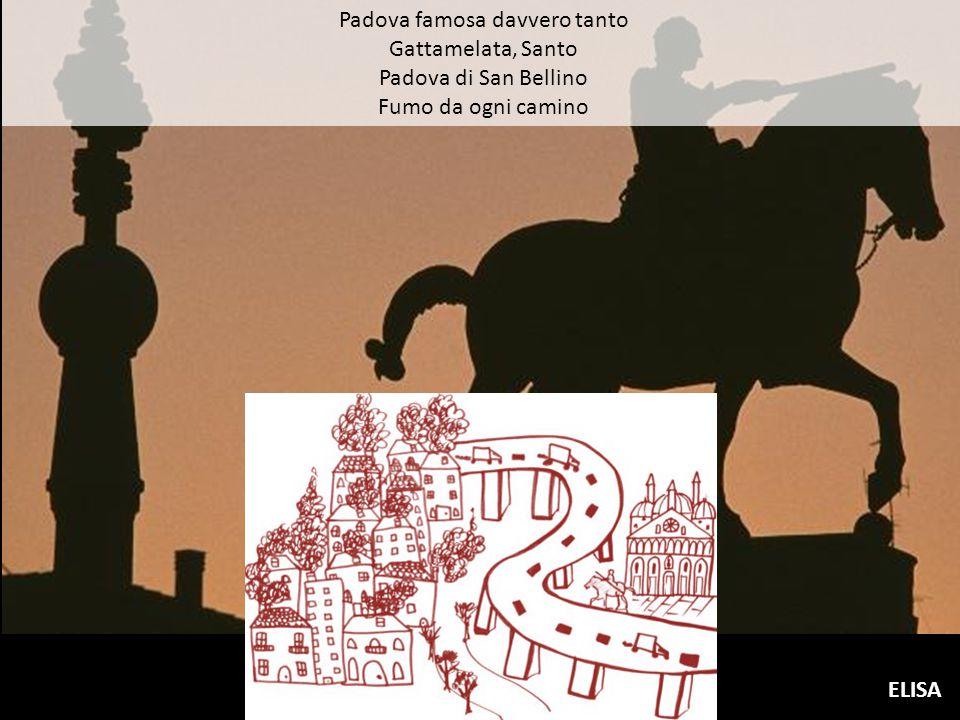 Padova famosa davvero tanto Gattamelata, Santo Padova di San Bellino Fumo da ogni camino ELISA