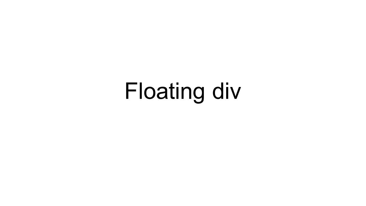 Floating div