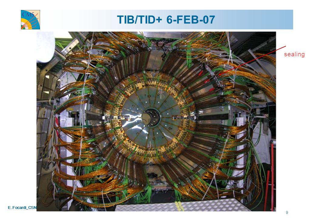 E.Focardi_CSN1_020407 10 TIB/TID- insertion Ready 29-01-07 In position 01-02-07
