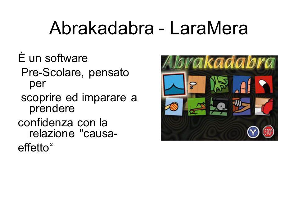 Abrakadabra - LaraMera È un software Pre-Scolare, pensato per scoprire ed imparare a prendere confidenza con la relazione causa- effetto