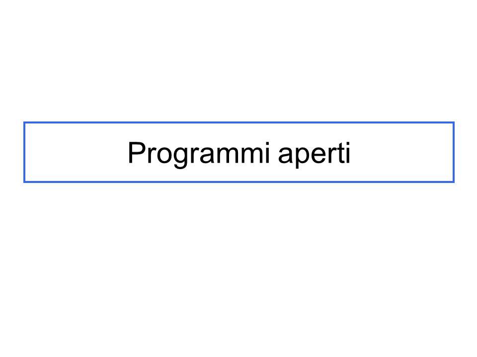 Programmi aperti