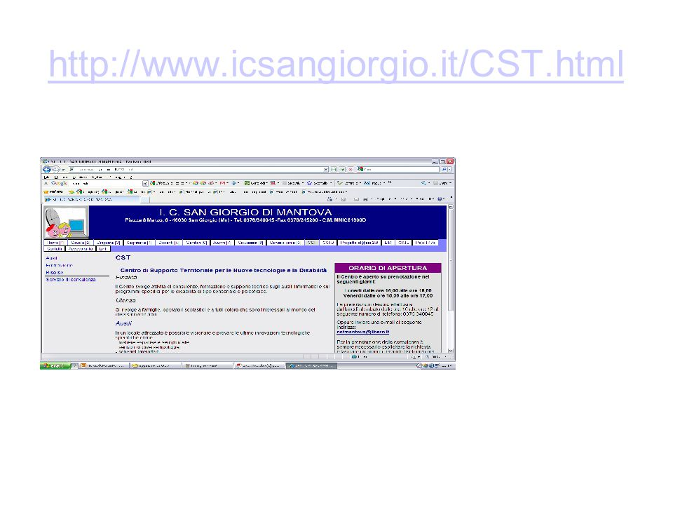 http://www.ausiliabili.it/ http://www.leonardoausili.com http://www.anastasis.it/ http://www.ausilioteca.org/ http://www.aidalabs.com/ http://www.asphi.it http://www.auxilia.it/ http://sd2.itd.cnr.it/ http://www.handylex.org http://www.ministerosalute.it/programmazione/normativa/sezNormativa.jsp?label=tar http://www.afacantu.it/ http://www.subvedenti.it/Download.asp http://www.smaldonesalerno.it http://handitecno.indire.it/ http://orsaminore.dreamhosters.com/handy/ausili/it_home.html http://www.superabile.it/web/it/Home/ http://www.helpicare.com