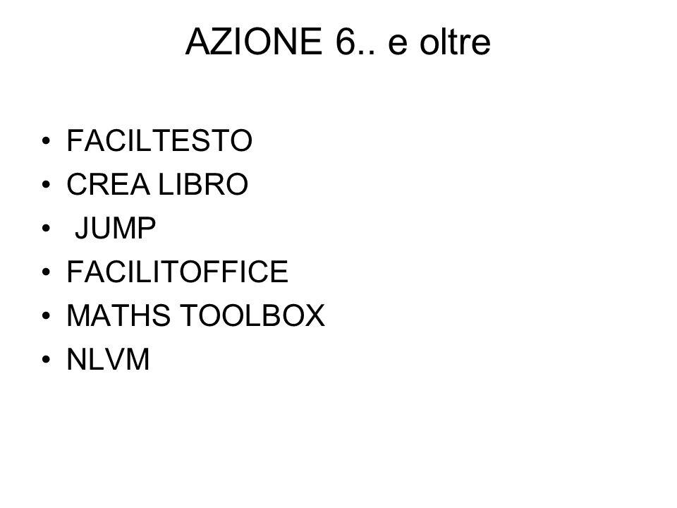 AZIONE 6.. e oltre FACILTESTO CREA LIBRO JUMP FACILITOFFICE MATHS TOOLBOX NLVM