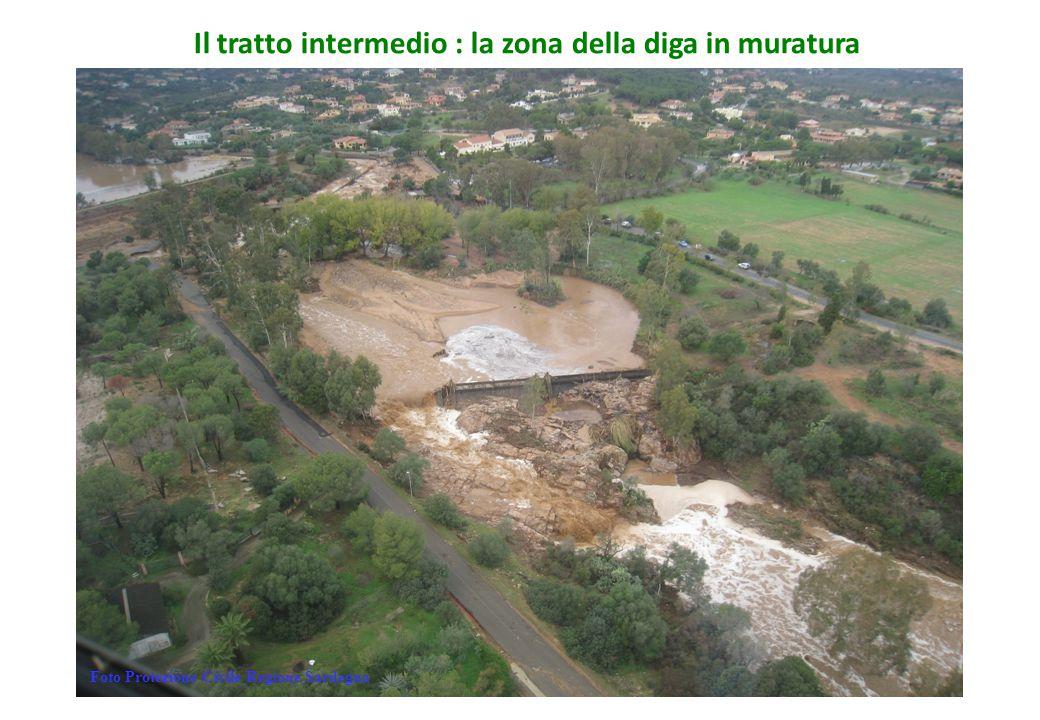 Il tratto intermedio : la zona della diga in muratura Foto Protezione Civile Regione Sardegna