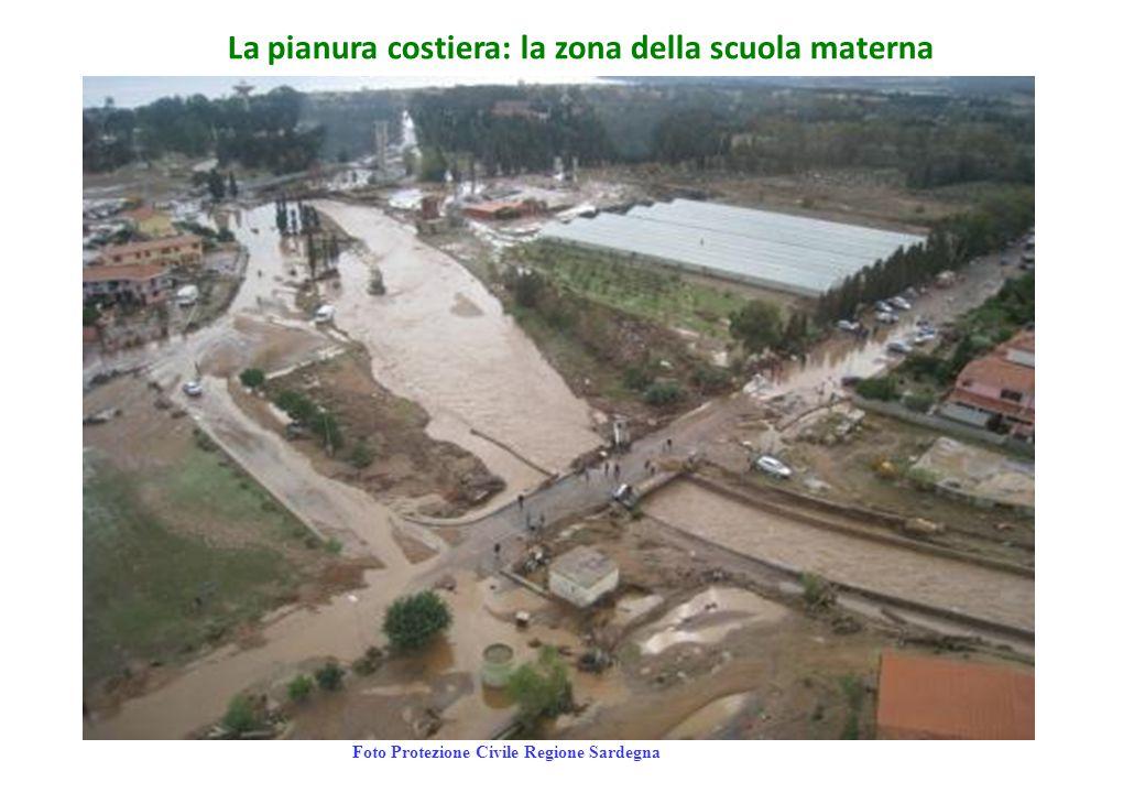 La pianura costiera: la zona della scuola materna Foto Protezione Civile Regione Sardegna