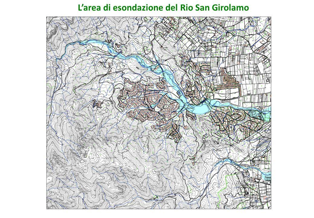 L'area di esondazione del Rio San Girolamo