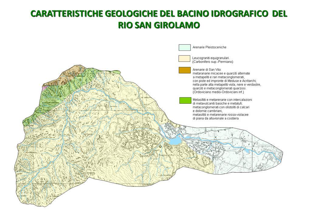 CARATTERISTICHE GEOLOGICHE DEL BACINO IDROGRAFICO DEL RIO SAN GIROLAMO