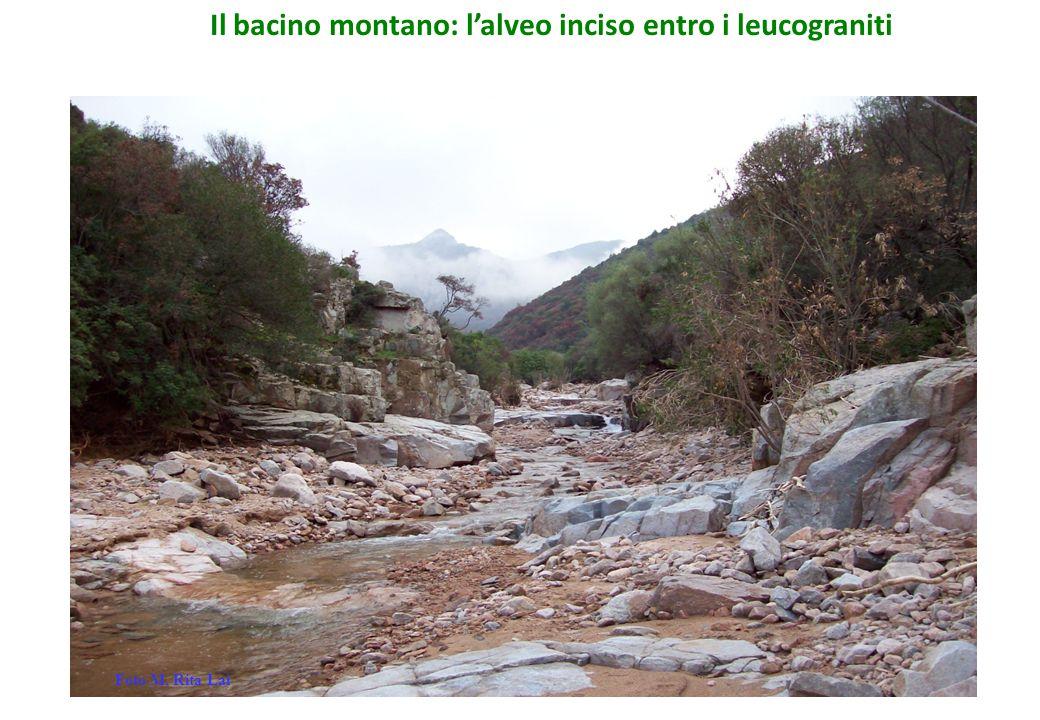 Il bacino montano: l'alveo inciso entro i leucograniti Foto M. Rita Lai