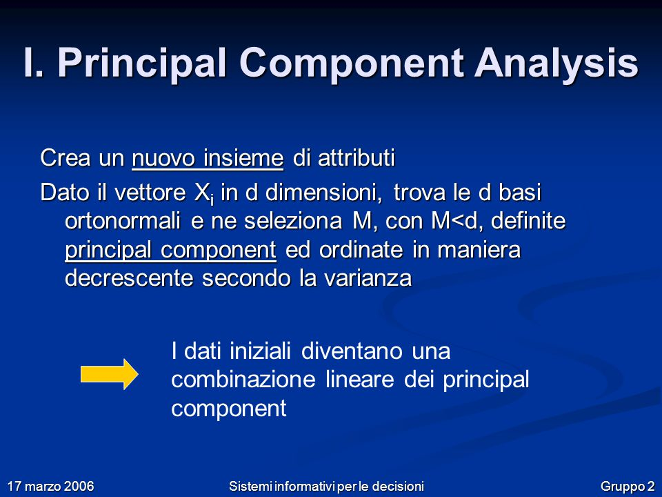 Gruppo 2 17 marzo 2006 Sistemi informativi per le decisioni I.