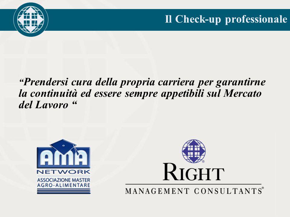 Il Check-up professionale Prendersi cura della propria carriera per garantirne la continuità ed essere sempre appetibili sul Mercato del Lavoro